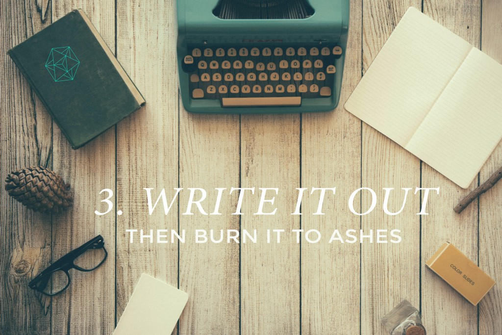 3.WRITE IT OUT